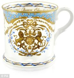 Ian Grant, of the Royal Collection Trust, which made the fine bone china pieces, said they wanted to create 'something much more personal' than previous royal ranges. The tankard (pictured) costs £39