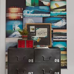 Surf Guy Collage Wall Mural | PBteen