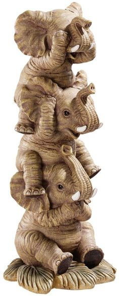 See, Hear, Speak No Evil Elephant Trio Figurine