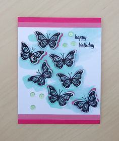 Hero Arts 2016 Catalog Blog Hop - Birthday Butterflies by Libby Hickson