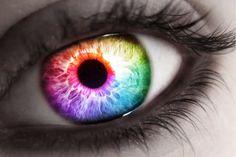 She Sees Rainbows Rainbow Crying Eyes Beautiful Eyes Color, Pretty Eyes, Cool Eyes, Aesthetic Eyes, Rainbow Aesthetic, Colored Eye Contacts, Crying Eyes, Eyes Artwork, Rainbow Eyes
