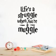 Life is a struggle Harry Potter vinyl quotes wall decal Inspirational decor living room art mural removable stickers