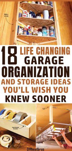 Organisation Hacks, Small Garage Organization, Garage Tool Storage, Organizing Hacks, Garage Shed, Garage Tools, Organized Garage, Small Garage Ideas, Garage Workbench