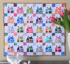 The House That Kaffe Built mini quilt foundation pattern
