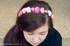 Make like a mermaid with a seashell headband or clip. | 31 Pretty Hair Accessories You Can Actually Make