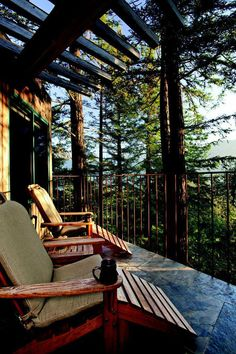 deck with a view // post ranch inn