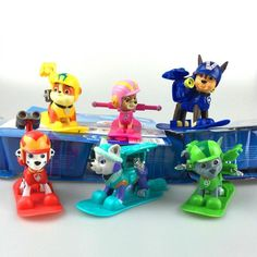 Paw Patrol Toys With Snowboard Skye Marshall Chase Rocky Rubble Everest Paw Patrol Figures Paw Patrol Toys Best Toys For Kids BK033