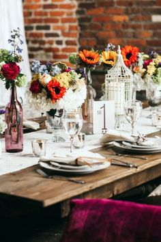 45 Bold Boho Wedding Table Settings | HappyWedd.com