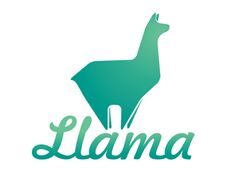 Llama Logo design - Stylized image of a Llama at the top of a mountain. Designed by Asitha Amarakoon 2016