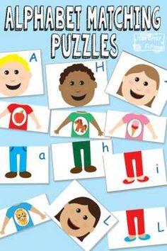 Free Printable Alphabet Matching Puzzles