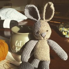Little bunny done. Now all he needs is clothes #littlecottonrabbits #knitting #knittingstuffies #iloveknittting #knittingaddict