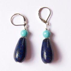 Teardrop Earrings, Statement Earrings, Women's Earrings, Silver Earrings, Turquoise Jewellery, Silver Jewellery, Handmade Art, Handmade Silver, Festival Jewellery