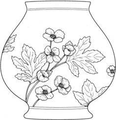 Vase Coloring page Flower Coloring Pages, Mandala Coloring Pages, Adult Coloring Pages, Letter V Crafts, Chinese Crafts, Quilling Patterns, Printable Crafts, Mexican Folk Art, Free Printable Coloring Pages