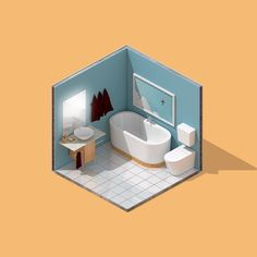 Mini Isometric Bathroom