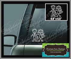 Rhinestone Adult Stick Figure Car Bling by stephanie932 on Etsy, $3.50