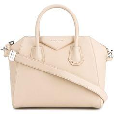 Givenchy small 'Antigona' tote ($2,295) ❤ liked on Polyvore featuring bags, handbags, tote bags, purses, bolsas, accessories, ivory, tote handbags, givenchy tote and beige purse