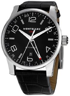 Montblanc Men's 36065 Timewalker Black Dial Watch Key Features        Automatic self winding movement      Case diameter: 42 mm      Stainless steel watch      Scratch resistant sapphire crystal protects watch from scratches,      Water-resistant to 30 m (99 feet)    List Price: $ 3,225.00  Price: $ 2,895.00