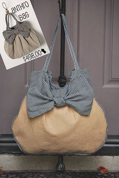 "Anthro Knock-off Bag with Printable Pattern...so stinkin cute! This is going on the ""to make"" list for sure"