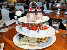 Afternoon tea at the Bistro Menil in Houston - a lovely atmosphere and delicious food! Chocolate Garnishes, Chocolate Flavors, Tea Blog, The Bistro, Cucumber Sandwiches, Piping Icing, Christmas Tea, Tea Service, My Tea