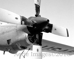 Aircraft Propeller Photo Air Force C130 Old Model by AerieImages
