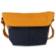 spree messenger (blue/brown/mustard) Blue Brown, Mustard, Essentials, Gucci, Luxury, Bags, Notebook Bag, Branding, Handbags