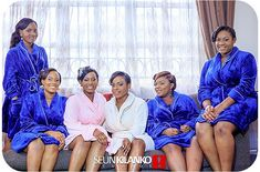 Bride and bridesmaids in robes   📸: Seun Kilanko Studios   www.loveweddingsng.com Bride Pictures, Bridal Robes, Brides And Bridesmaids, Bridal Shower, Studios, Magazine, Wedding Dresses, Maid Of Honor, Shower Party