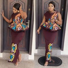 Are you warming up for a special occasion or want to look stunning on Ankara styles? then check Latest Ankara Skirt and Blouse Styles 2019 Ankara Skirt And Blouse, African Maxi Dresses, African Fashion Ankara, Latest African Fashion Dresses, African Print Fashion, African Attire, African Wear, Ankara Gowns, African Prints