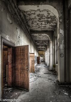 Endless Corridor by stengchen.deviantart.com on @deviantART - abandoned university