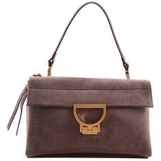 Coccinelle Luxusní kožená kabelka Arlettis Suede Camoscio Asphalt XO6 12 01 01 053