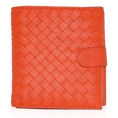 Couture Accessories, Bottega Veneta, Leather Wallet, Orange, Detail, Design, Fashion, Moda, Fashion Styles