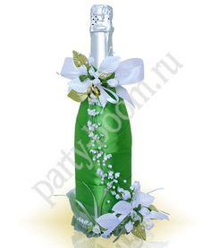 Украшение свадебного шампанского - Уроки мастерства - интернет-магазин «Патибум»