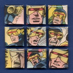 Cyclops is astonished. Set of 9 magnets.