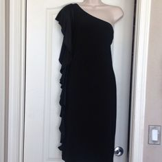 "Selling this ""Ralph Lauren off shoulder black dress"" in my Poshmark closet! My username is: amyhair. #shopmycloset #poshmark #fashion #shopping #style #forsale #Ralph Lauren #Dresses & Skirts"