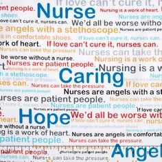 Windham Calling All Nurses by Whistler Studios 37301 X Words Cotton