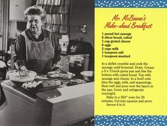 Hard to beat  Aunt Bee's breakfast is everything it's cracked up to be.    from the postcard book AUNT BEE'S MAYBERRY COOKBOOK     $50,000 sharing recipes, Incredible!!!   If you love Delicious Recipes and Making Money we have a perfect match  http://scrunchurl.com/sgqqbo  The Perfect Home Business  referral code MM101