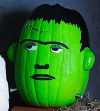 Frankenstein Painted Pumpkin #halloween