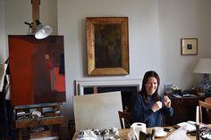 Studio Visit with Deborah Tarr Artist Workspace, Artist At Work, Studios, Abstract, Painters, Landscapes, Artists, Create, Summer