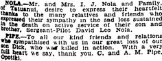 Auckland Star 11/06/1941 Killed In Action, Bereavement, Auckland, Family History, Sad, Death, Thankful, Sayings, Lyrics