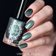 Swatch of Powder Perfect Borders of the Forest Nail Polish (Hardwicke Collection)