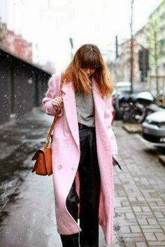 Abrigo 2014 rosa #tendencias #moda #almeria