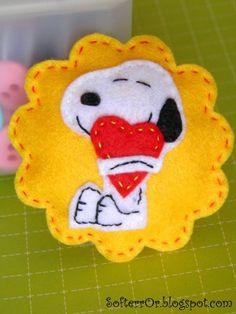 Felt Snoopy in Love