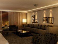 salas decoradas com sofa marrom - Pesquisa Google