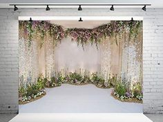 Kate Wedding Photography Backdrops Flowers Backgrounds Photo Studio for Wedding Party Stage Photographic Background Photography Backdrops, Wedding Photography, Wedding Background, Flower Backdrop, Flower Backgrounds, Photo Studio, Tapestry, Amazon, Party