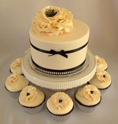 Pretty...love the cupcakes...could easily make it a white accents instead of black.