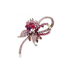 Elegant romantic crystal rhinestone brooch pin, corsage, scarf pin, scarf buckle -- Read more  at the image link.