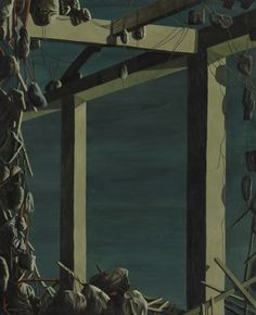 Kay Sage (1898-1963). A Bird in the Room, 1955, oil on canvas, 99.1 x 81.30 cm