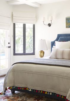 Rustic Spanish California Home – Simple, Eclectic Guest Bedroom