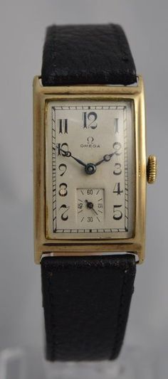 Vintage Watches Collection : Omega 1929 Art Deco 'Tank' Wristwatch - Watches Topia - Watches: Best Lists, Trends & the Latest Styles Watches For Men, Wrist Watches, Amazing Watches, Beautiful Watches, Stylish Watches, Luxury Watches, Unique Watches, Art Deco Watch, Men's Watches