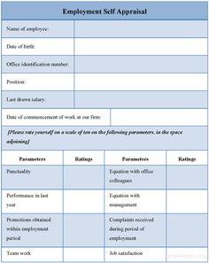 Self Evaluation Form  Shella