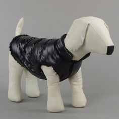 Small Dog Pet Winter Padded Coat Warm Fleece Down Jacket Puppy Warm Cat Vest Clothes H1